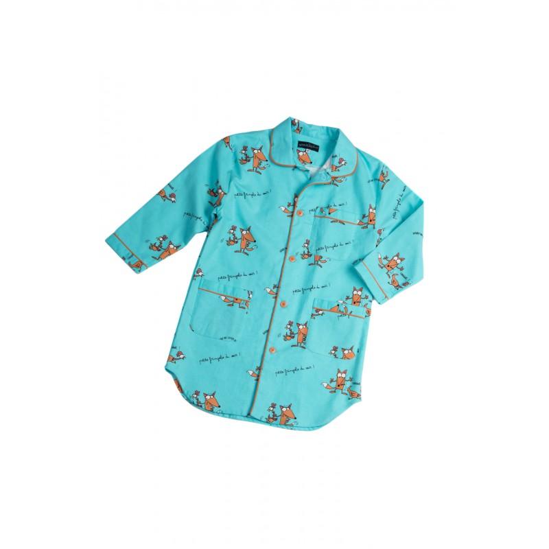 chemise de nuit en flanelle pour fille renards pour l 39 hiver. Black Bedroom Furniture Sets. Home Design Ideas