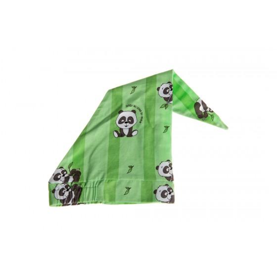 Nachtmuts 'Panda' groen