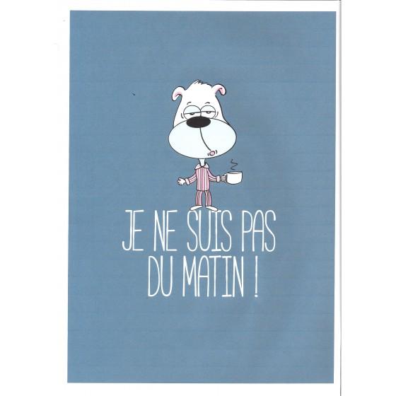 Lange jersey pyjama voor KINDEREN 'Hond blauw'