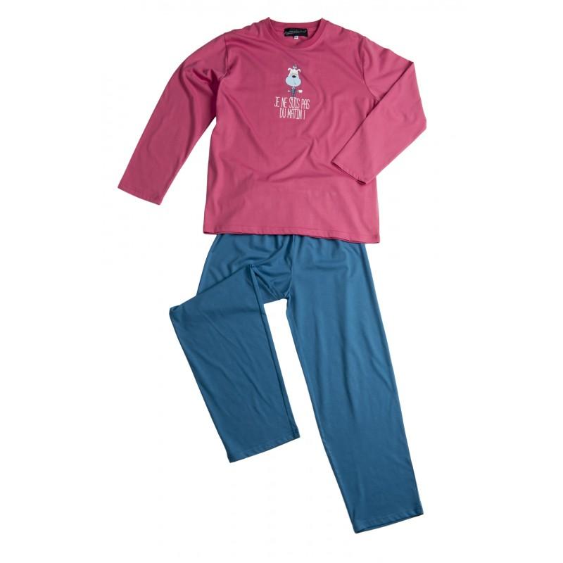 Lange pyjama voor meisjes 'Hond Roze'