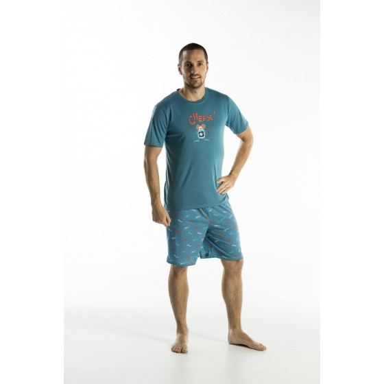 Korte jersey herenpyjama 'Cheese'