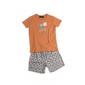 Kinderpyjama met short 'Chat Gris'