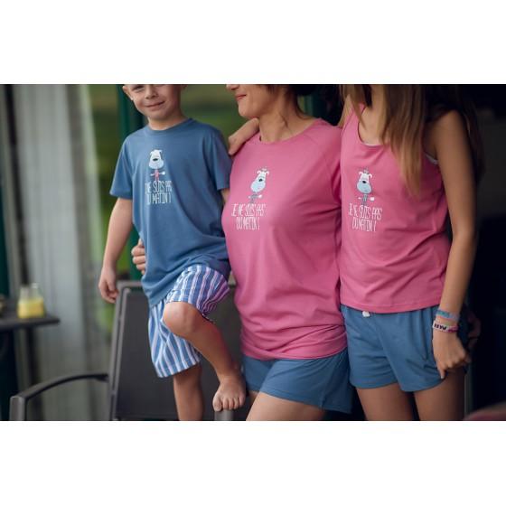 Chemise de nuit ENFANT rose 'Chien'