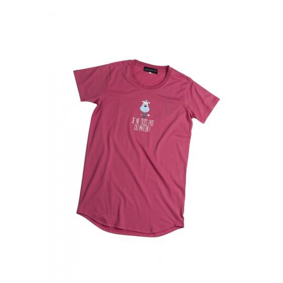Nachthemd voor kinderen roze 'Hond'