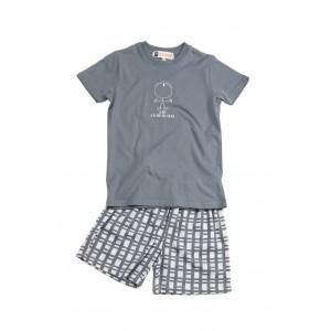 Pyjashort voor kinderen in jersey EEN OOG