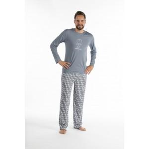 Lange pyjama voor heren in jersey EEN OOG