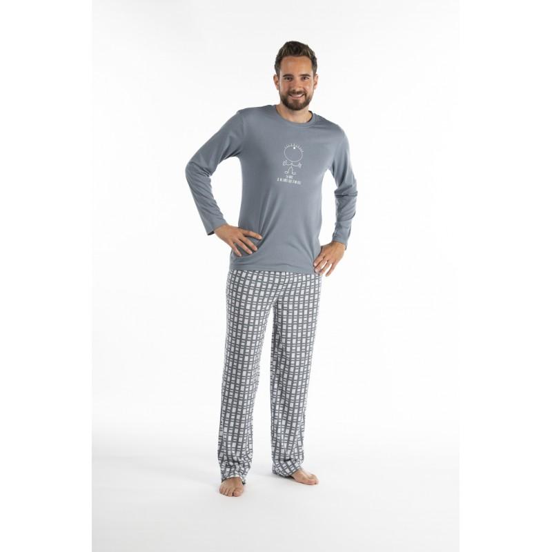 Pyjama long pour homme pour l'été en jersey 'Un Oeil'