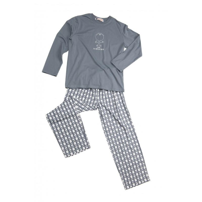 Lange pyjama voor kinderen in jersey EEN OOG
