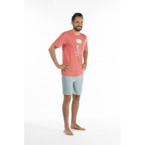 Pyjashort voor heren in jersey De WOLF