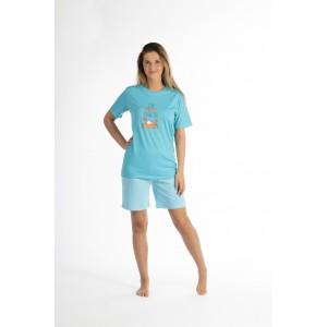 Pyjashort voor dames in jersey De KRAB