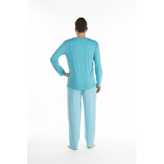 Lange pyjama voor mannen in jersey De KRAB
