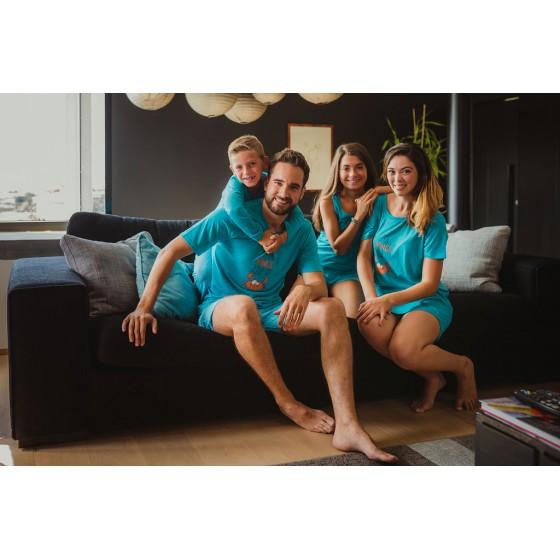 Lange pyjama voor vrouwen in jersey De KRAB