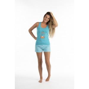 Pyjama shorty voor vrouwen in jersey KRAB