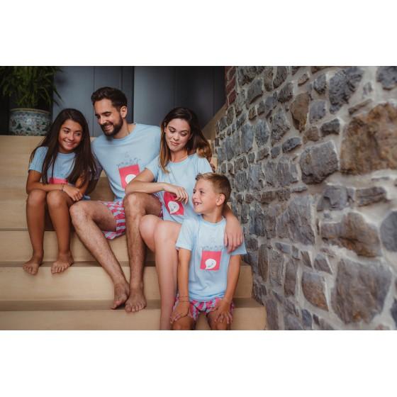 Pyjashort voor kinderen in jersey SILENCE