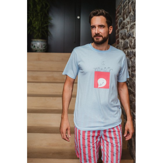 Pyjashort voor heren in jersey SILENCE