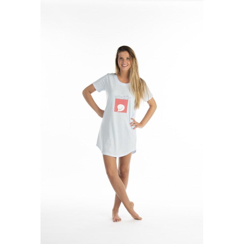 apparence élégante design intemporel handicaps structurels Chemise de nuit en jersey pour femme SILENCE
