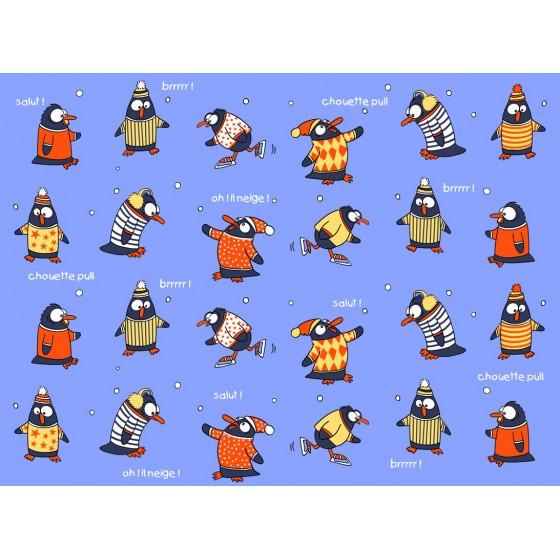 Lange flanellen pyjama voor kinderen PINGUINS