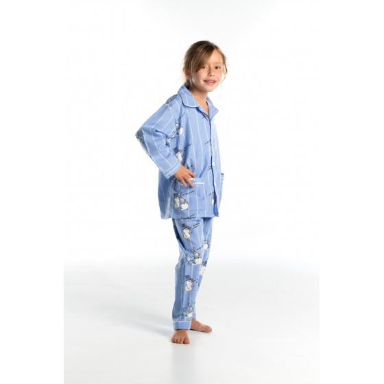 Lange flanellen winterpyjama voor kinderen SNEEUWBAL