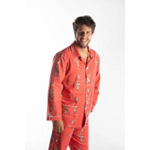 Pyjama flanelle long homme NOEL