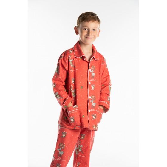 Lange flanellen pyjama voor kinderen DE KERST
