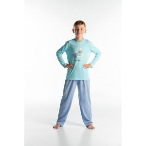 Lange pyjama voor kinderen in jersey CHAT VA?