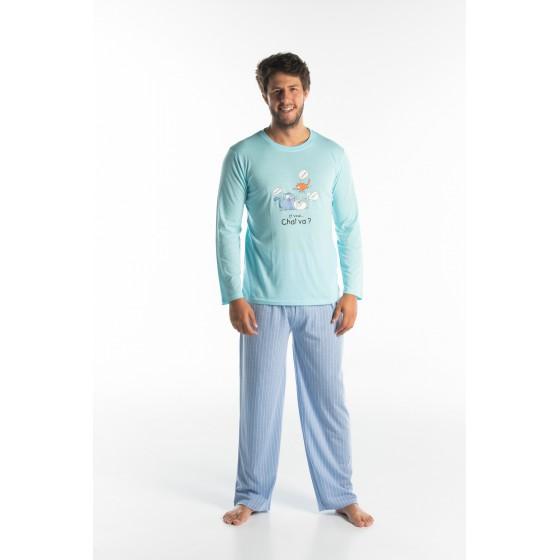 Lange pyjama voor heren in jersey CHAT VA?