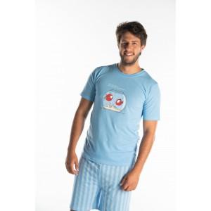 Korte pyjama voor heren VISSEN