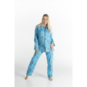 WINTERPYJAMA in flannel voor vrouwen POULE