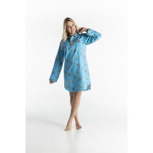 WINTER NACHTHEMD in flannel voor vrouwen POULE