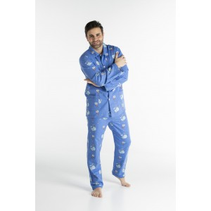 WINTERPYJAMA in flannel voor heren BALEINE
