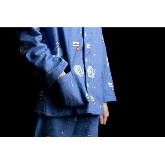 WINTERPYJAMA in flannel voor vrouwen BALEINE
