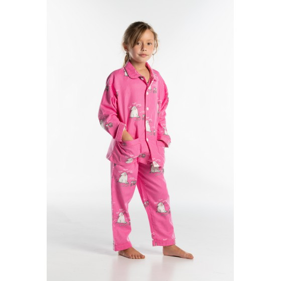 Pyjama long enfant CHAT ROSE