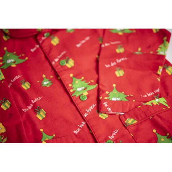 WINTERPYJAMA in flannel voor vrouwen SAPIN