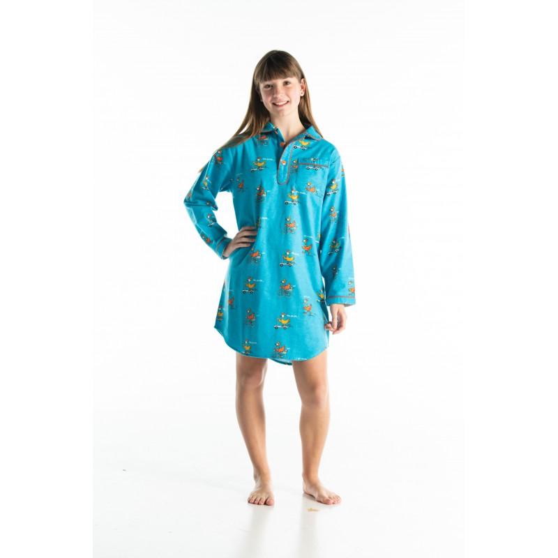 WINTER NACHTHEMD in flannel voor meisjes POULE