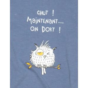 Maxi t-shirt femme court Hibou Chut !