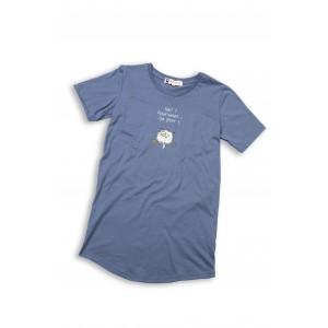 Maxi t-shirt voor vrouwen HIBOU. CHUT !