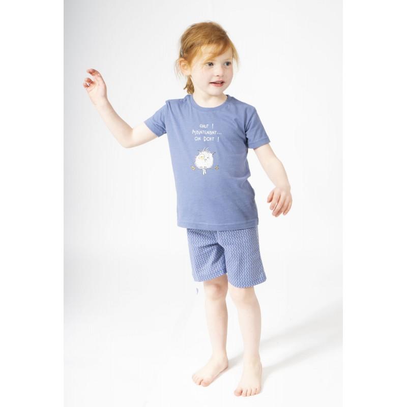 Pyjashort voor kinderen HIBOU. CHUT !