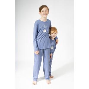 Lange pyjama voor kinderen ' HIBOU CHUT'