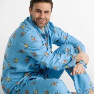 WINTERPYJAMA in flannel voor heren POULE