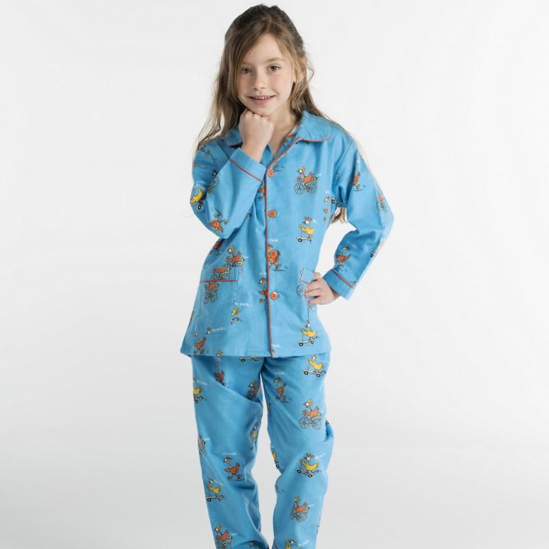 WINTERPYJAMA in flannel voor kinderen POULE