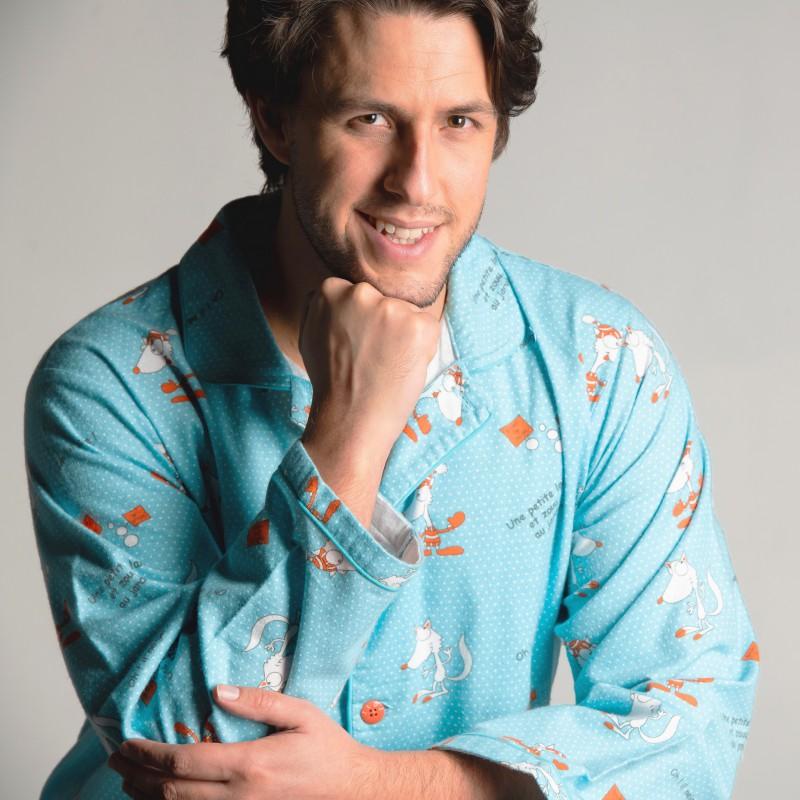 WINTERPYJAMA in flannel voor heren RENARD BLANC