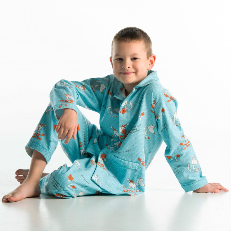 WINTERPYJAMA in flannel voor kinderen RENARD BLANC