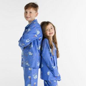 WINTERPYJAMA in flannel voor kinderen BALEINE