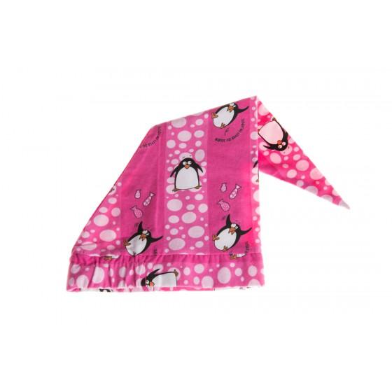 Bonnet de nuit 'Pingouin fuchsia'