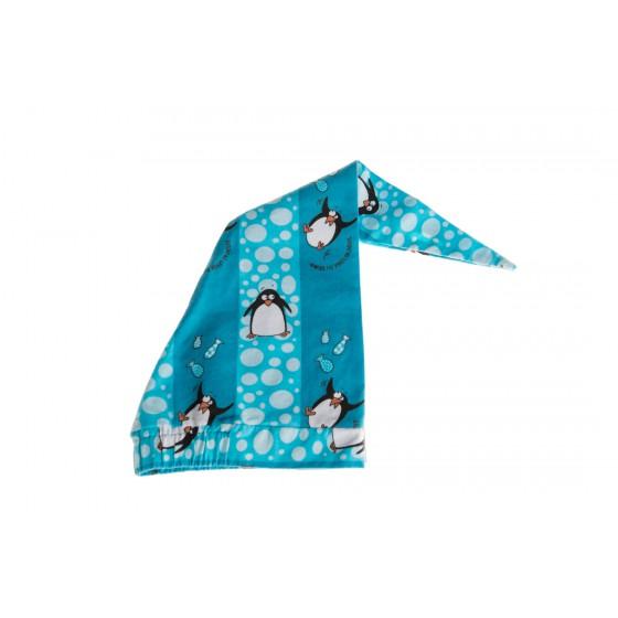 Bonnet de nuit 'Pingouin' bleu